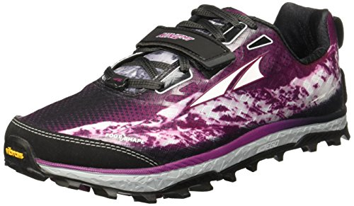 ALTRA Women's King MT Trail Running Shoe - Gray/Magenta 8.5