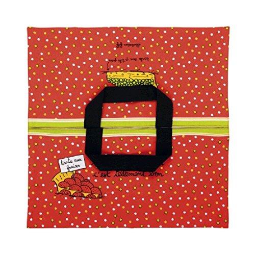 Derrière la porte – Sac pour gâteau, en Coton avec imprimé, Accessoire pour gâteau, idée Cadeau pour Femme Taglia Unica C'est Tellement Bon ! - Rouge
