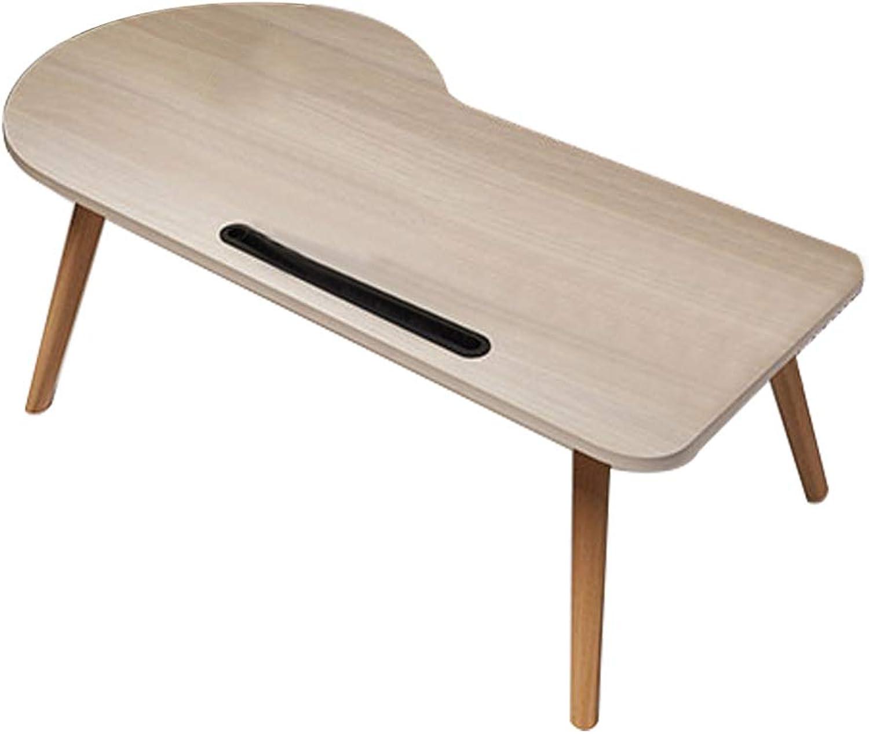Laptop Desk Bed Study Table Simple Folding Mini Desk Writing Desk Dormitory Lazy Table (color   Natural, Size   90  48  34cm)