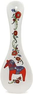 Decorative Ceramic Kitchen Spoon Rest by E.H.G | Swedish Red Dala Horse