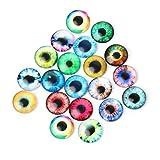 MIsha 10 pares Ojos de seguridad de Vaso Juguete animal de cristal ojos, Ojos de seguridad para amigurumi muñecas títere oso de peluche animal de peluche(20mm)
