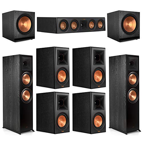 Best Review Of Klipsch 7.2 Ebony Home Theater System - 2 RP-8000F, 1 RP-404C, 4 RP-600M, 2 SPL-150 ...