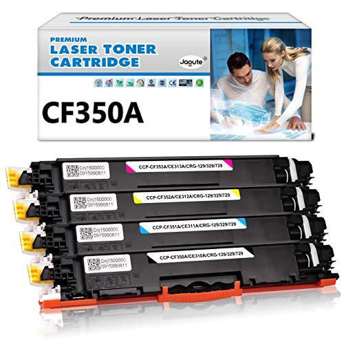 Jagute CF350A Toner Sostituzione HP 130A CF350A CF351A CF352A CF353A 126A CE310A Compatibile con Stampanti HP Color LaserJet Pro M176 M176FN M177 M177FW M274N M275 M277 M277N M277DW (1 Set)