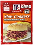 McCormick 'Slow Cookers' Sweet & Smoky Pulled Chicken Seasoning (1.25 oz Packets) 4 Pack