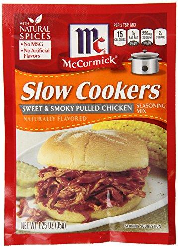 """McCormick """"Slow Herdarten"""" Sweet & Smoky gezogen Huhn Würze (1,25Oz Pakete) 4Stück"""
