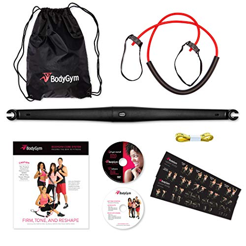 Buy Bodygym Portable Home Gym - Resistance Band + Bar, Full Body Workout: Improve Fitness, Build Mus...