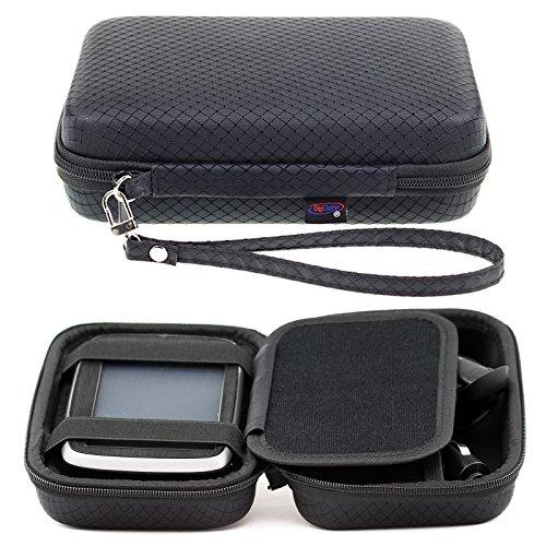Digicharge Negro Funda Duro para Tomtom Rider 400 Rider 40 GPS Sat Nav con Asa y Compartimentos para Accesorios