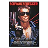 Terminator Movie Poster T-800 Arnold Schwarzenegger Canvas