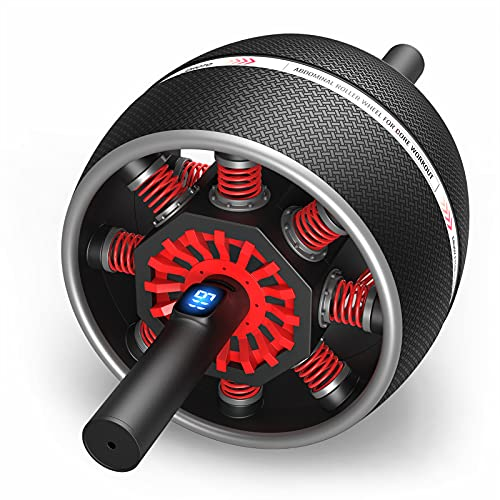 JOROTO Ab Roller Wheel for Core Workouts - Digital Counting Core Trainer for Abdominal Exercise Abs Workout with Resistance & Assistance (Model: AR60)…
