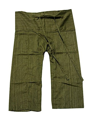 Original Thai Fisherman Fisher Yoga Hosen stripe-dark Olive Grün