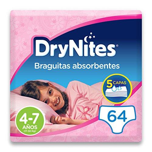 DryNites - Braguitas absorbentes para niña - 4 - 7 años (1