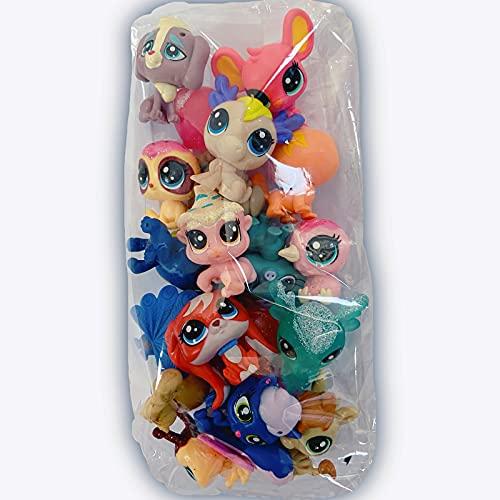 LPS Pet Shop Juguetes,10 Piezas/Set Tienda de Mascotas Juguete 2-3cm niños Juguetes para niños Regalo LPS Cat Pet Shop Mini Figuras Juguetes Animal Gato Perro pájaro Figuras de acción