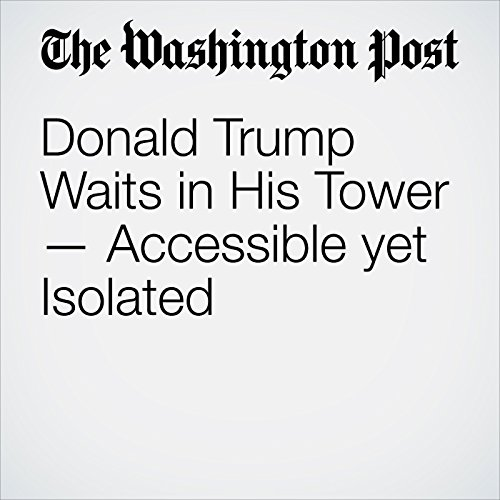 Donald Trump Waits in His Tower — Accessible Yet Isolated copertina