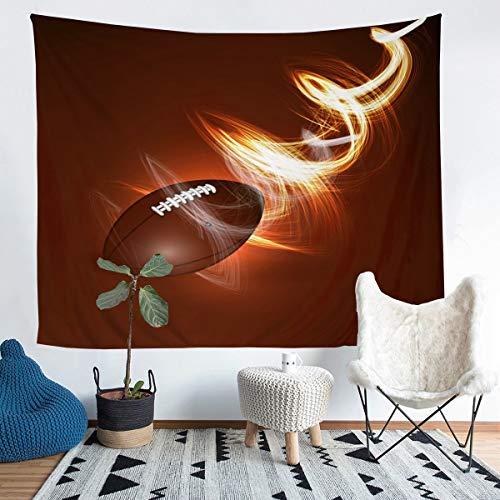 Manta de Pared de Rugby, de fútbol Americano,Colgar en la Pared,yde habitación de los Campeonato atlético, Manta de Cama Ligera, tamaño Mediano 128 x 122 cm
