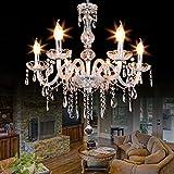Samger 6 lampadario del braccio K9 cristallo Plafoniera E14 Lampada a sospensione per Entrata del corridoio della camera da letto del salone