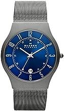 Skagen Men's Sundby Quartz Analog Stainless Steel and Mesh Watch, Color: Grey (Model: 233XLTTN)