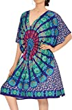 LA LEELA diseñador del Vestido Vestido de Verano Ropa de Playa Tumbona además Bikini Azul Cubierta de la Mujer hasta