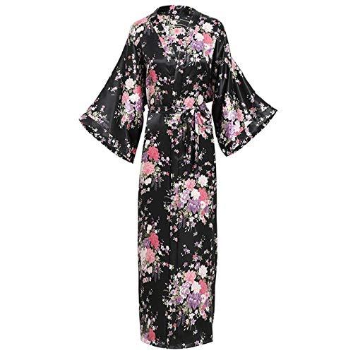 FXC Hot Springs Kimono Japanse Stijl Vest Thuis pyjama Sauna Badjas Set Bad Mannen En Vrouwen-Grote Maat Katoen, Blauwe Rijn 1738 Mannen s,S