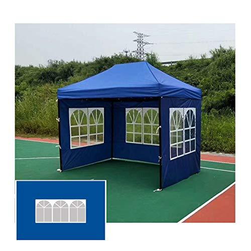 LJIANW-lonas impermeables exterior, Tienda Tela Wai, Tarea Pesada Lona Durable Impermeable Cubierta del Pabellón por Mueble De Jardín, Cámping, 400G/metro Cuadrado (Color : Blue+Clear, Size : 2x3m)