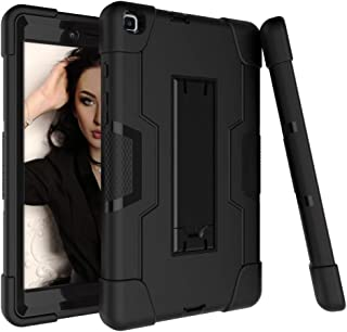 Galaxy Tab A 8.0 Case 2019, Bingcok Heavy Duty Rugged Full-Body Hybrid Shockproof Drop Protection Cover with Kickstand for Samsung Galaxy Tab A 8.0 2019 Model SM-T290 /SM- T295 (2-Black)