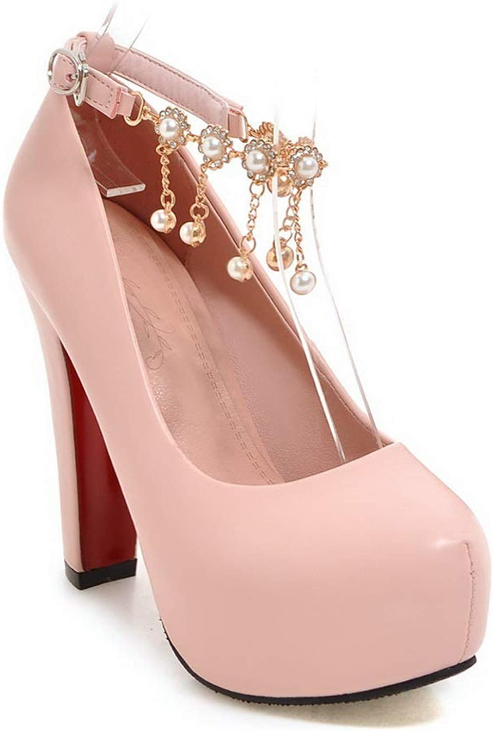 1TO9 Womens Beaded Solid Platform Urethane Pumps shoes MMS06293