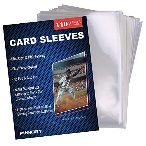 110 Count Loader Penny Card Sleeves for Trading Card, Ultra Clear SoftBoard Game Toploaders Penny Sleeves, Standard Size Penny Sleeves Compatible with Baseball Card, MTG, Football Cards