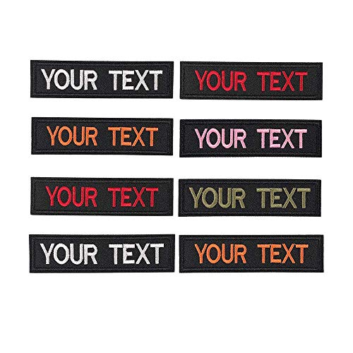Customized Text Patch x2pc,Personalized Embroidery Name Patch Hook Fastener / Iron on Patch