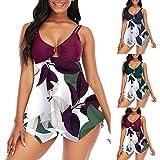 2021 Nuevo Vestido de Traje de Baño Bikinis Talla Grande con Pantalones Ropa de Playa Conjunto de Bikinis Impresión...