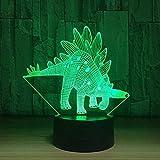 Boutiquespace 3D Illusionslicht LED Kindernachtlicht 7 Color Touch Fernbedienung Schlafzimmer Dekorieren Tischlampe Kind Weihnachten Geburtstagsgeschenk [Energieklasse A+++]