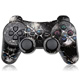 CHENGDAO PS3 Controller Wireless Dual Shock Gamepad for Sony Playstation 3 with Charging Cord (Skull)