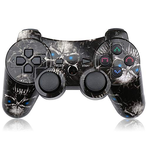 Mando PS3 Inalámbrico Double Shocky Función Six-Axis para Playstation3(Skull)