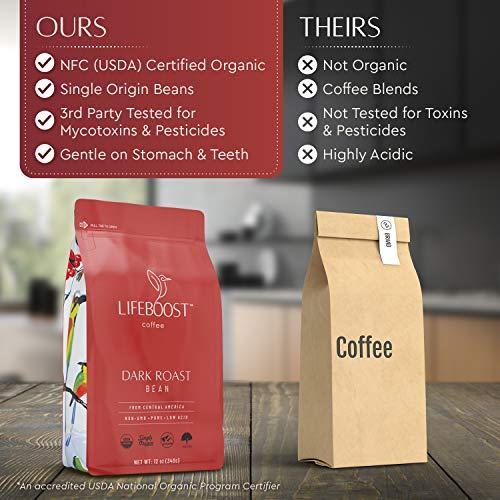Lifeboost Coffee Whole Bean Coffee Dark Roast...
