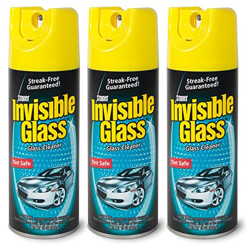 Invisible Glass 91163-3PK 15-Ounce Cleaner for Auto and Home for a Streak-Free Shine, Deep-Cleaning Foaming Action, Safe for Tinted and Non-Tinted Windows, Ammonia Free Foam Glass Cleaner
