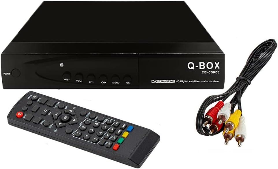 Mingbao Q-Box Concorde WiFi DVB-T2+S2 Combo 1080P HD Tuner Decoder Satellite TV Receiver HDTV Set-top Box YouTube