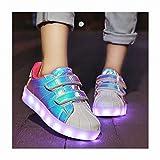 Bambini LED Lampeggiante Conchiglia Scarpe Carica USB 7 Colori Lampeggiante...