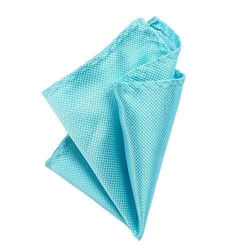 DonDon Pañuelos de bolsillo hombre de 21 x 21 cm para ocasiones especiales - Azul claro