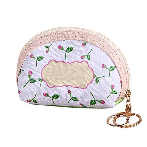JoyRolly Mini Geldbörse Frau Nette Kleine Handtasche Mode Blume Münztüte Fall Halter Leinwand Reißverschluss Brieftasche Tasche für Karten Münzen (Style-3) Style-4