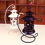 OUYAWEI Hollow Pentagon Iron Candle Holder Wedding Candle Stand European Candlestick Craft Gifts Black