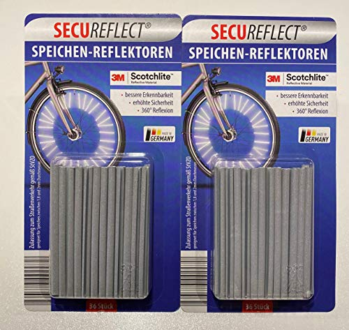 SECUREFLECT Speichenreflektoren 72 STK. für 1 Fahrrad mit 3M™-Scotchlite™-Reflexmaterial ORIGINAL