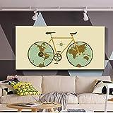 SQSHBBC Vintage World Map Carteles e Impresiones Mapa clásico del Mundo en la...