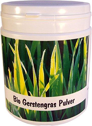 SANOS Bio Gerstengras Pulver 250g, feinst vermahlen, aus eigenem Anbau frisch vom Bodensee