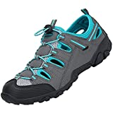 SAGUARO Sandalia Deportiva Ajuste Piso para Hombre Mujer Sandalias de Senderismo Zapatos de Montaña Antideslizante Verano, Light Grau 38