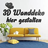 3D Wanddeko aus Holz selber gestalten | verschiedene Schriftarten und Motive | Wandtattoo von 30 cm bis 200 cm | Individueller Schriftzug oder eigener Logo als Wanddekoration