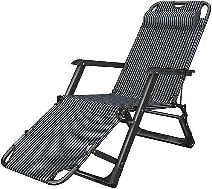 Silla de Tijera Pesada Terraza portátil Plegable Silla de Playa Playa Piscina Jardín Interior al Aire Libre de 200 kg Soporte LITING (Color : A)
