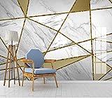Fototapete Geometrischer Marmor Vlies Wandbild Tapeten Moderne 3D effekt Wandtapete Wohnzimmer Schlafzimmer Fernseher Sofa Hintergrund Wanddekoration 400 cm (B) * 280 cm (H) 8 Streifen
