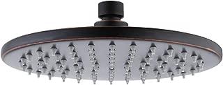 KES ALL Metal Rain Shower Head 8-Inch Rainfall Showerhead Fixed Mount Stainles Steel Swivel Ball Adjustable Oil Rubbed Bronze J203S8-ORB