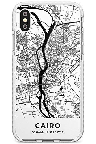 Mapa De El Cairo, Egipto Caja del teléfono de Impacto para iPhone X/XS, for iPhone 10 | Protector Doble Capa Parachoque TPU silikon Cubrir Modelo Impreso | Viaje Pasión De Viajar Europa Ciudad Calle