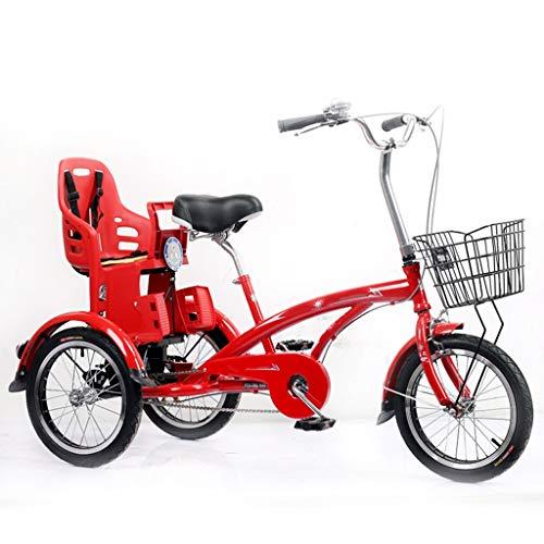 OFFA Dreirad Tricycle for Erwachsene Mit Korb, 3-Rad-Bikes 16 Zoll Erwachsene Senioren Dreirad Cruiser Bike, Dreirädrige Fahrräder for Damen Herren Anfänger, Verschleißfest Sattel, Bremse Hinten