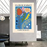 Blumenmarkt London Tokyo Kopenhagen Poster Retro Vogue