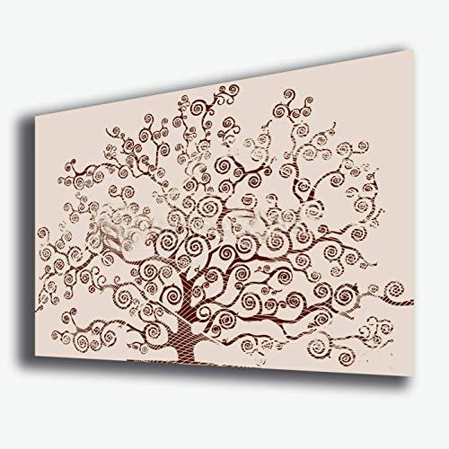 Quadro moderno ALBERO DELLA VITA 70x100 cm arte moderna Stile KLIMT beige STAMPA SU TELA canvas Quadri Moderni Cucina Salotto Soggiorno Camera da letto